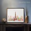 Paris Cityscape Watercolor Photo Canvas Print