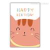 Happy Birthday Cat Animal Wall Art