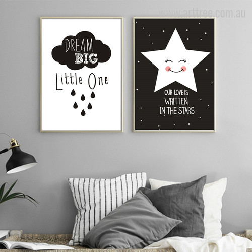 Dream and Love Quote Digital Print Set