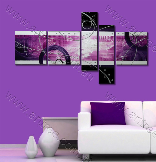Purple Semicircle Canvas Oil Painting