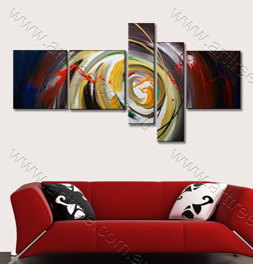 Colorful Swirl Canvas Artwork