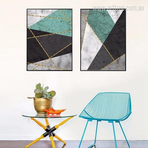 Abstract Geometric Designs Wall Art