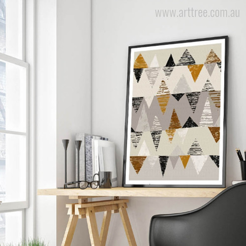 Abstract Geometric Triangles Design Wall Decor