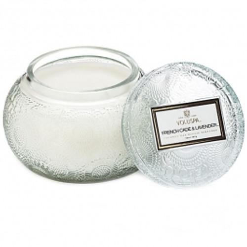 VOLUSPA - French Cade Glass Chawan Bowl w/Lid   14oz