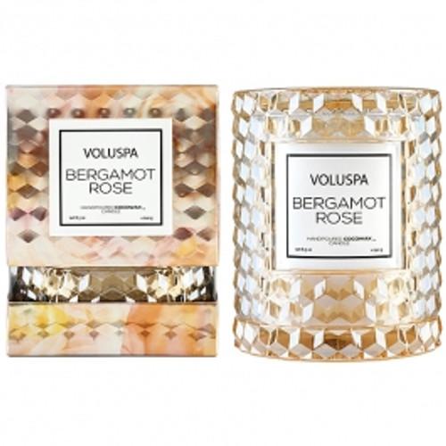 VOLUSPA - Beramot Rose Icon Cloche Cover Candle  8.5oz