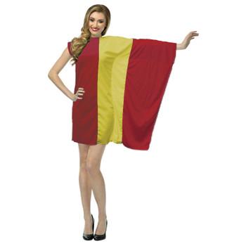 Ladies Spain Flag Fancy Dress Spanish Patriotic Costume Sports Supporter