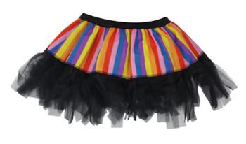 Childs Hatter Stripe Cyber Tutu Book Week Day Kids Wonka Fancy Dress Age 8-12