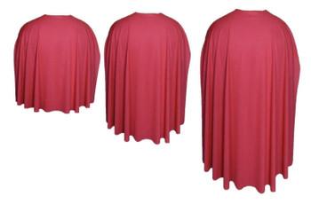 Red Custom Made Super Hero Cape Fancy Dress Accessory