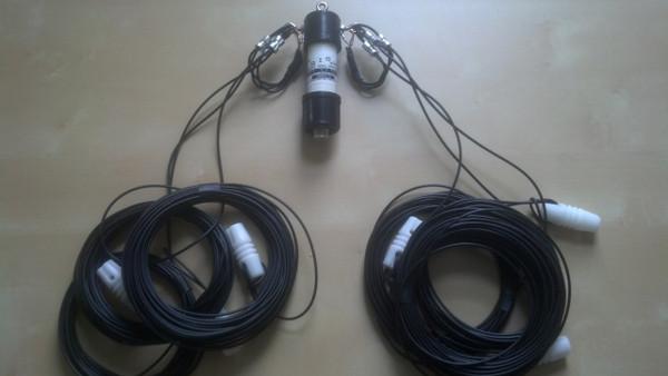80-40-20 meter fan dipole with 1:1 balun Flex-Weave