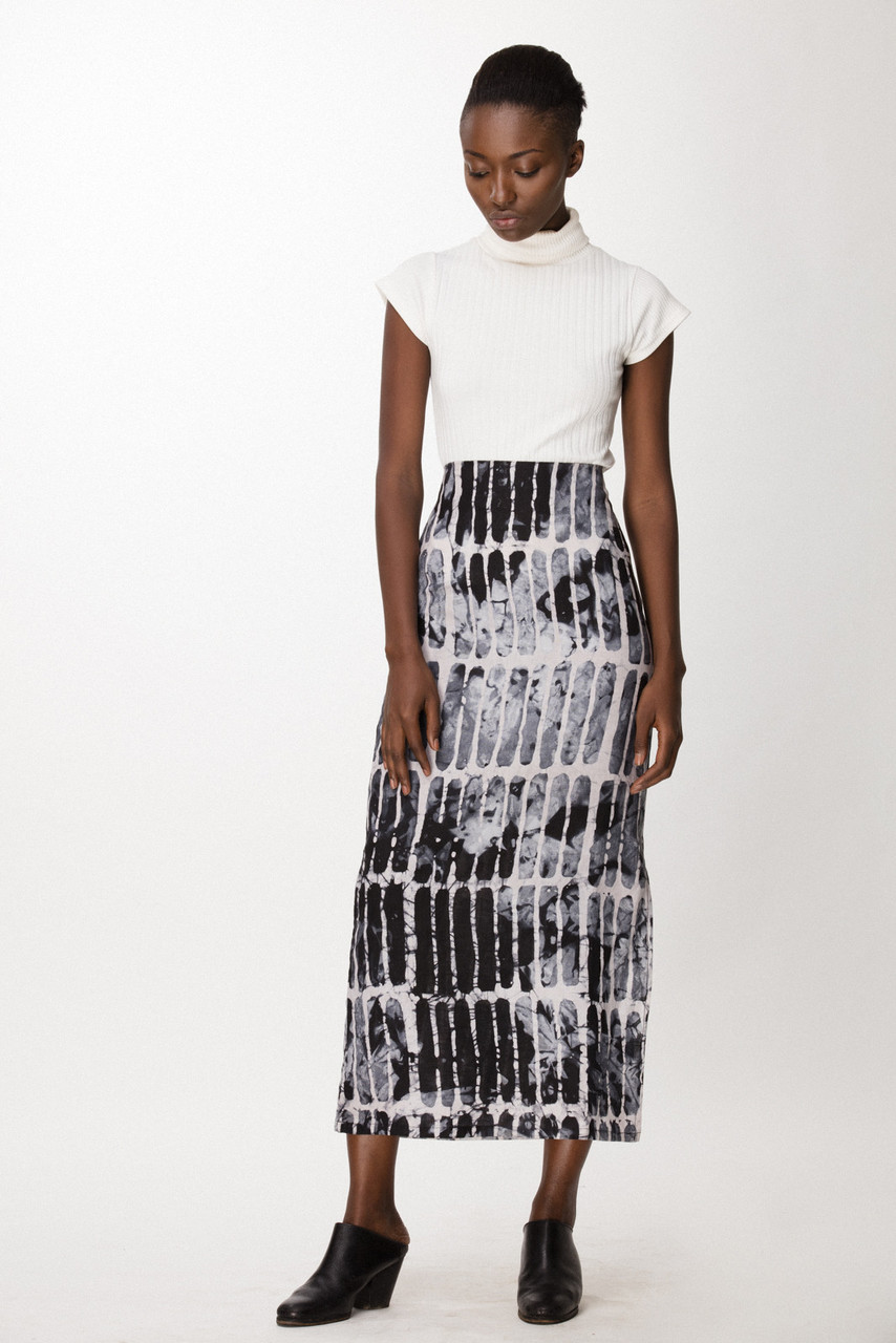 Column Skirt, Black Chalk