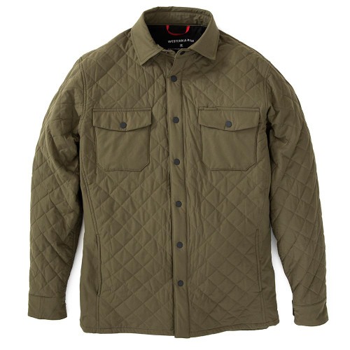 Quilted Jacket — Olive