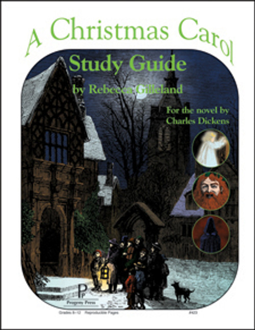 Christmas Carol Progeny Press unit study guide lesson plans for literature and reading from a Christian worldview with Biblical integration