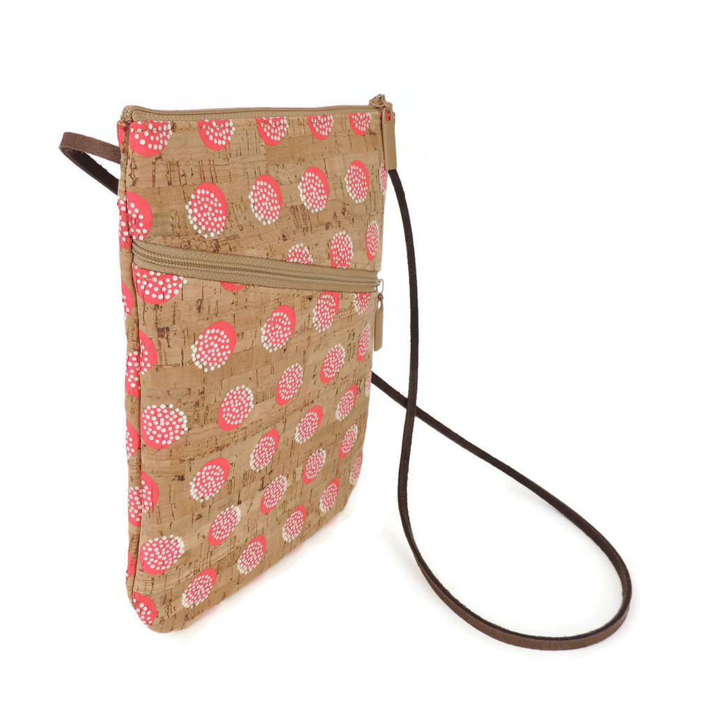 Social Bag in Pink Dandelion Cork