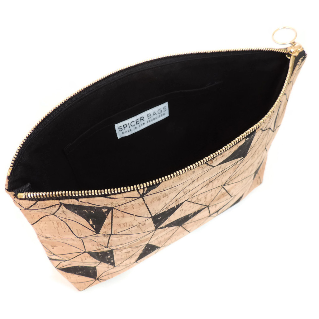 Carryall Clutch in Geo Cork