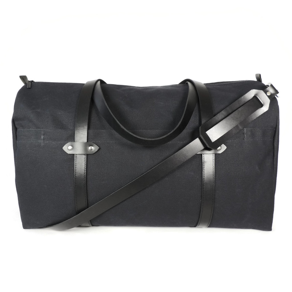 Duffle in Black Waxed Canvas