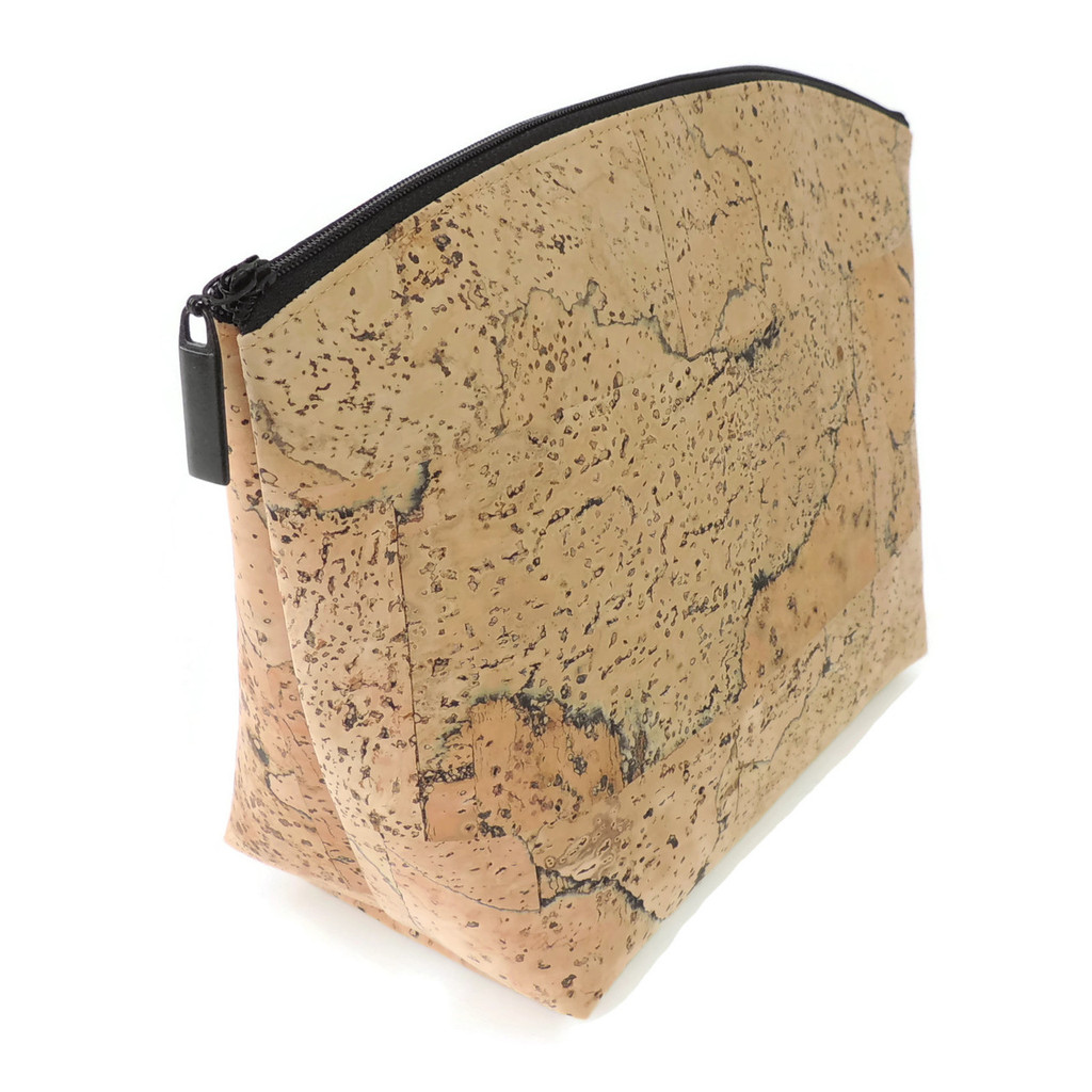 Extra Large Standing Pouch in Marble Cork
