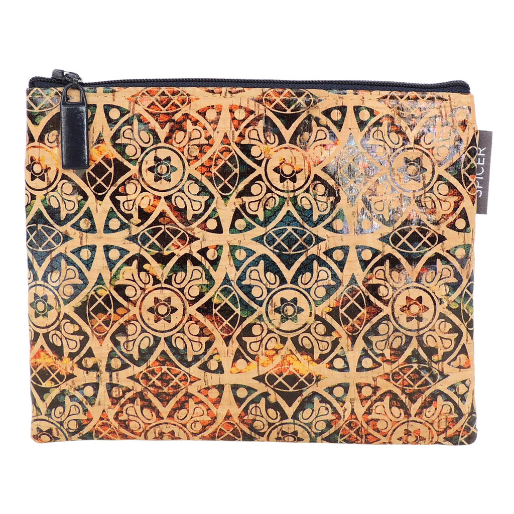 Pouch in Fes Tile Cork