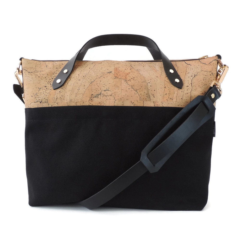 Satchel in Marble Cork