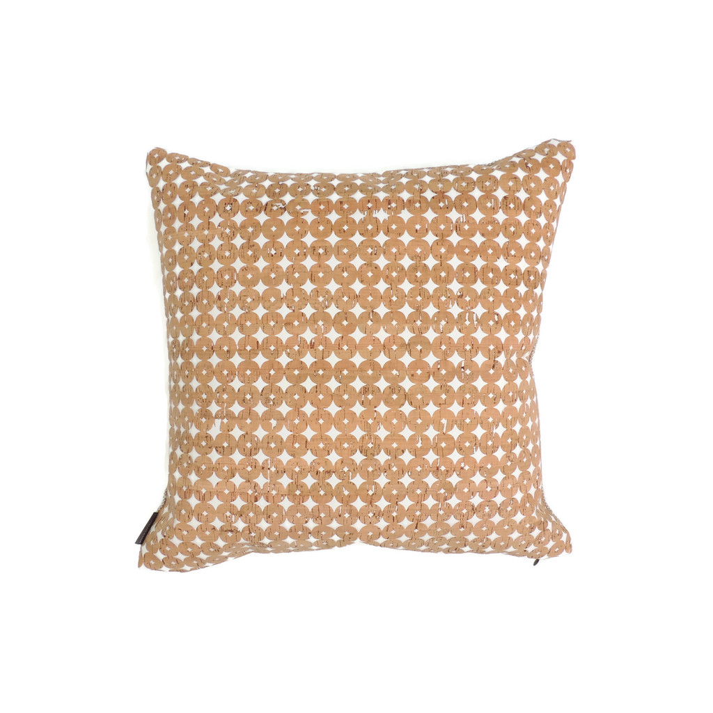 "18"" by 18"" Pillow Cover in Cork Dots"