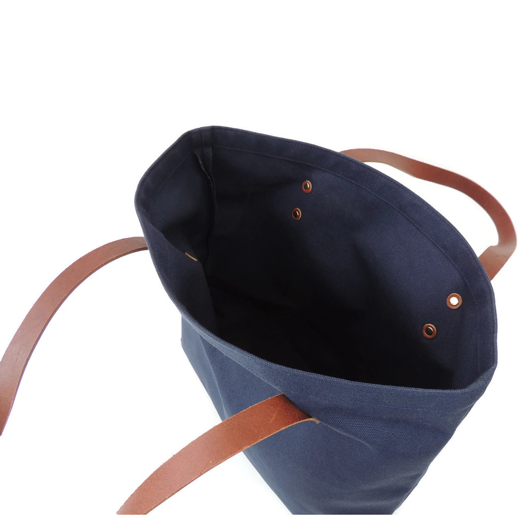 Navy Canvas Market Tote