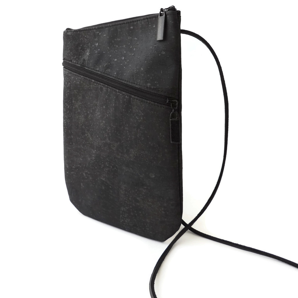 Social Bag in Black Cork