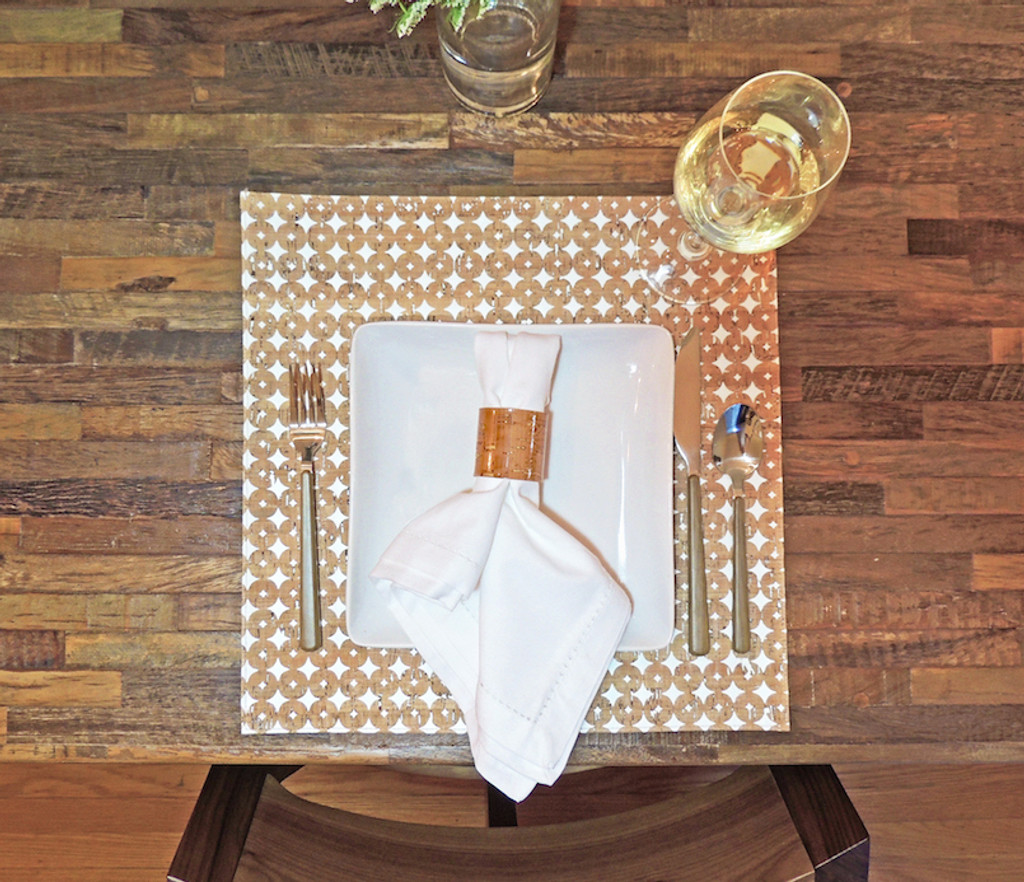 Square Placemat in Cork Dots