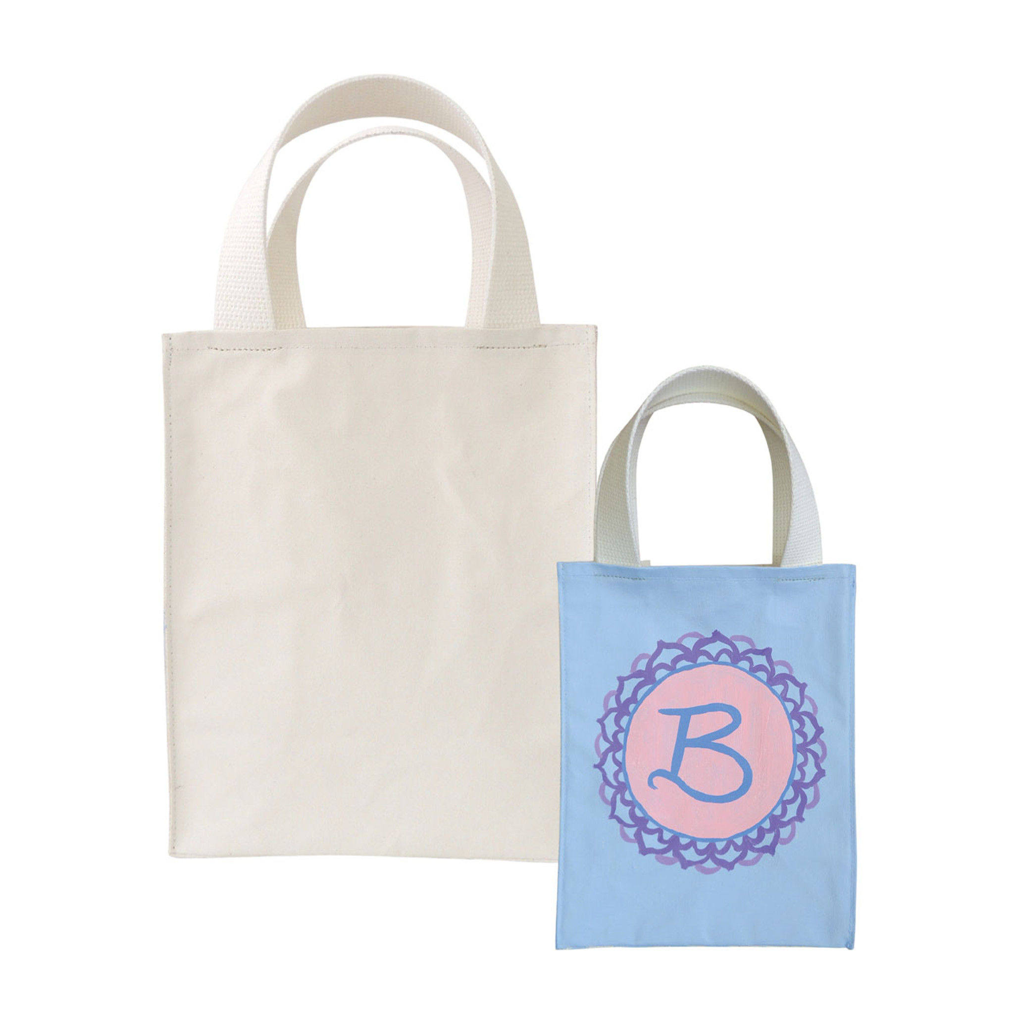 P.I.Y Primed Canvas Small Tote with Cotton Straps