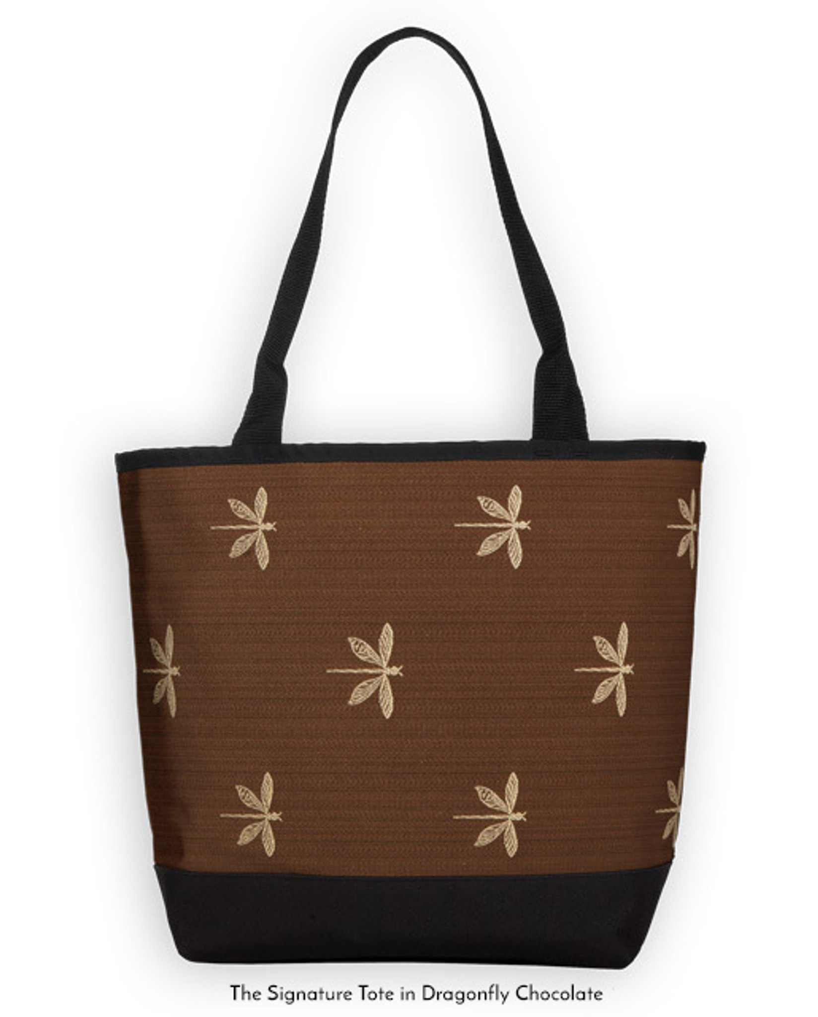 Signature Tote in Dragonfly Chocolate