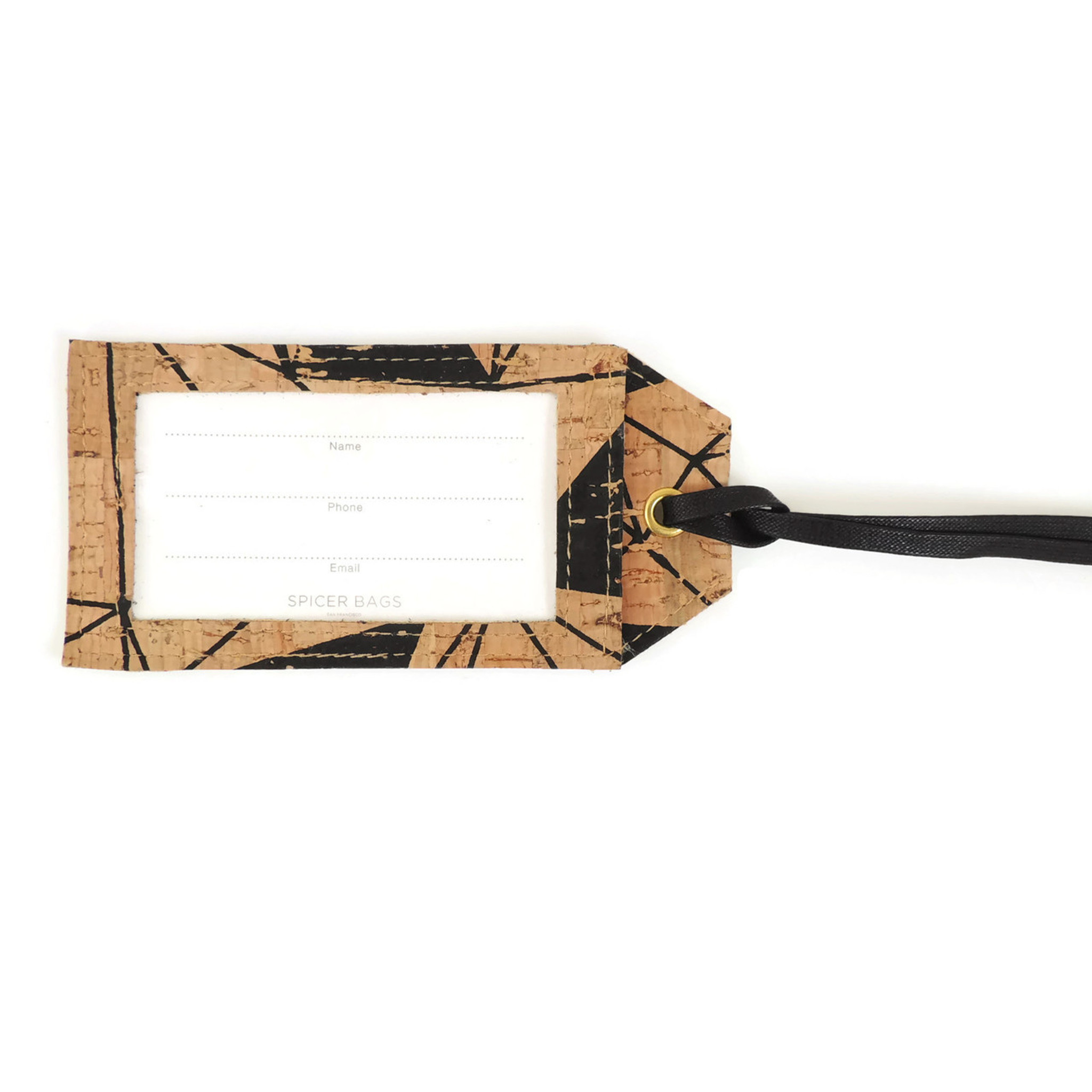 Luggage Tag in Geo Cork