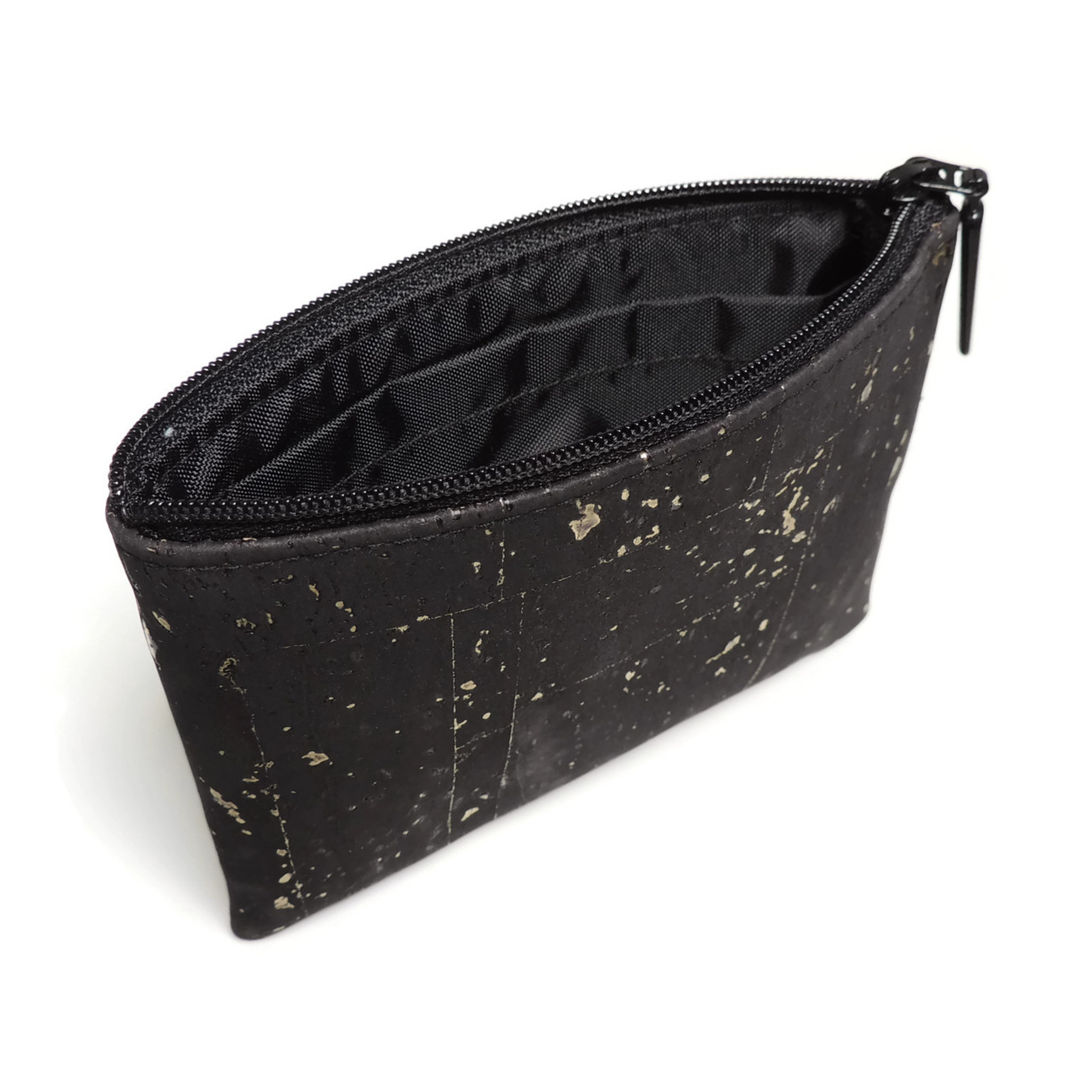 Mini Pouch in Black and Gold Cork