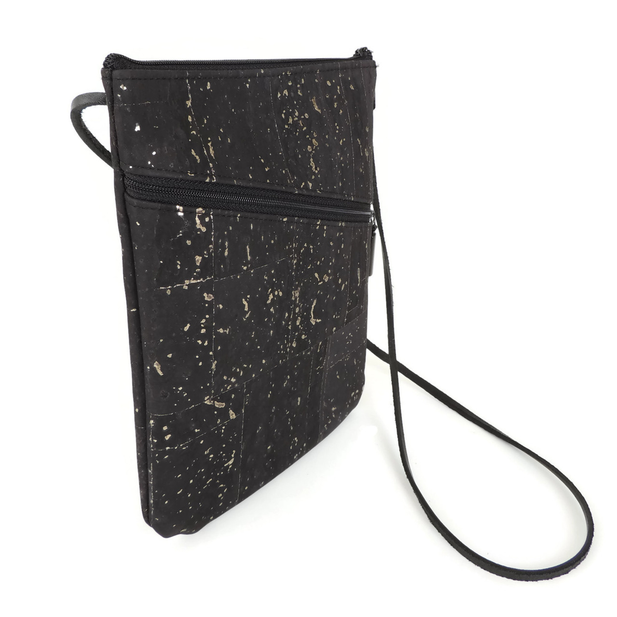 Social Bag in Black and Gold Cork