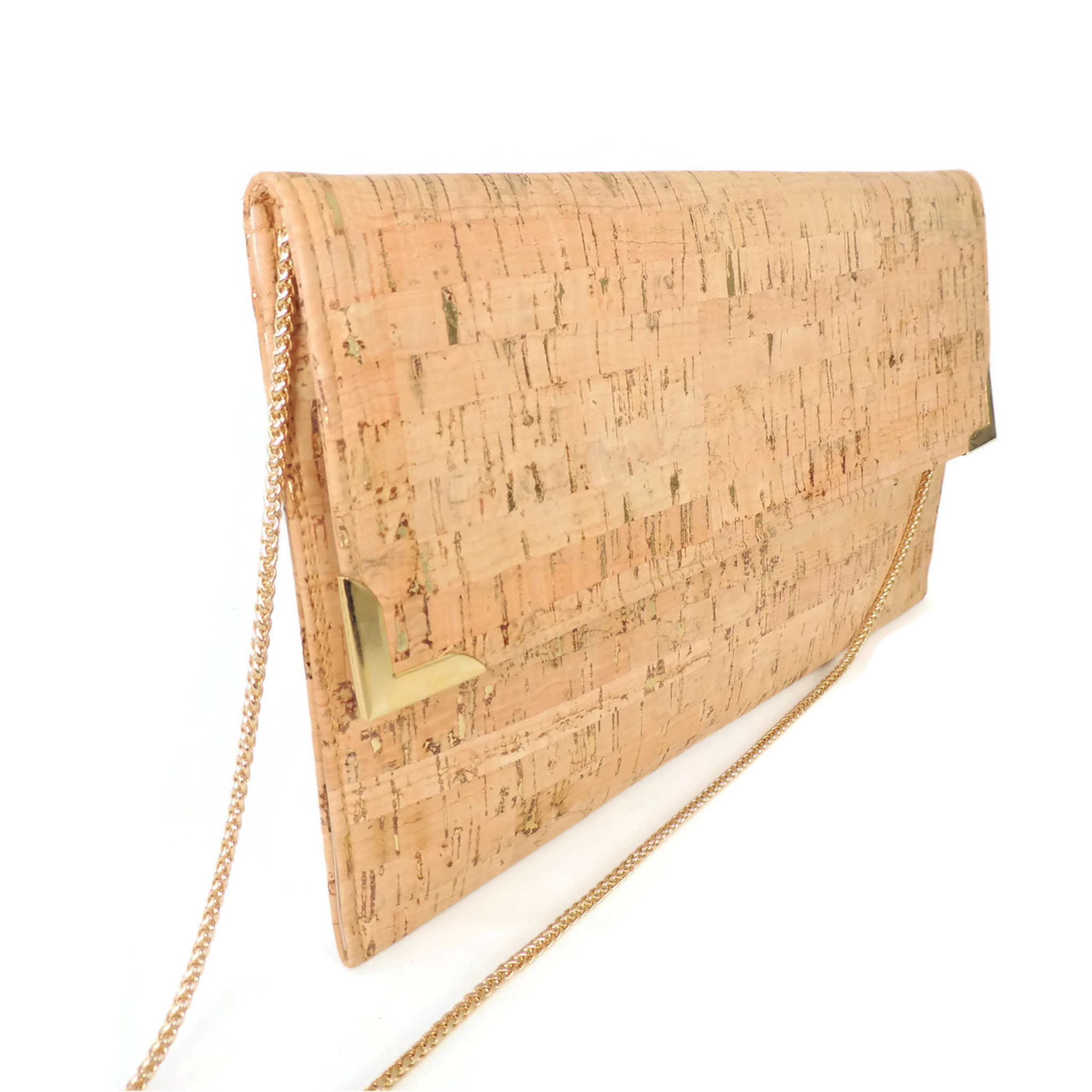Folio Clutch in Cork Dash Gold