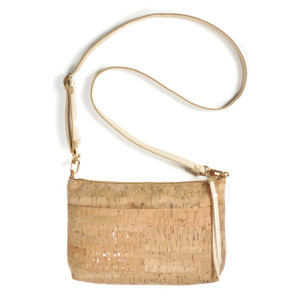 Crossbody Purse in Cork Dash Gold