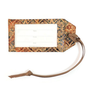 Luggage Tag in Fes Tile Cork