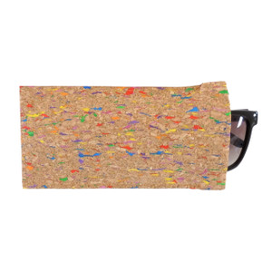 Cork Eyeglass Case in Multicolor Cork