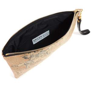 Wristlet in Black Lotus Cork