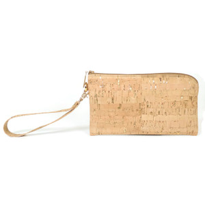 Phone Wristlet in Cork Dash Gold