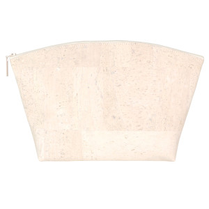 Large Standing Pouch in White Cork