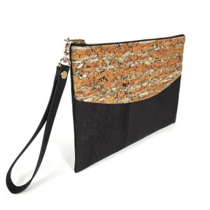 Smile Clutch in Fennel Cork