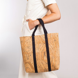 Small Web Tote in Marble Cork