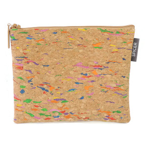 Pouch in Multicolor Cork