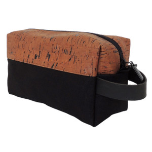 Dopp Kit in Cork Dash Brown