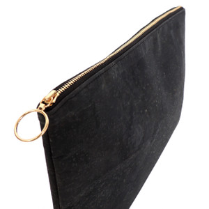 Carryall Clutch in Black Cork