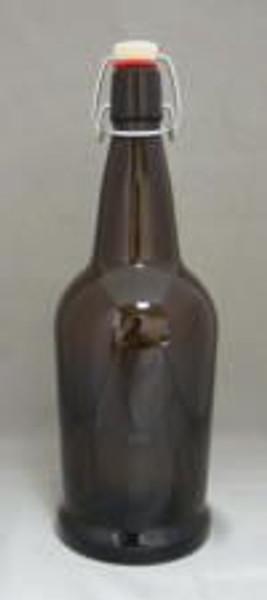 Amber 1 Liter E.Z. Cap Bottles