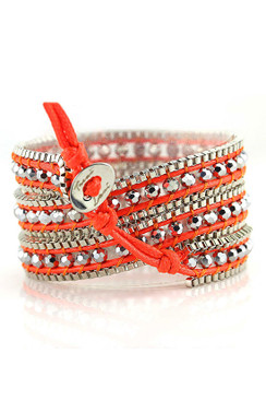 TREZO LAVI Silver Chain Wrap Bracelets