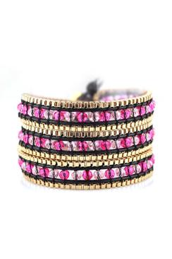 Trezo Lavi Gold Chain Wrap Bracelet