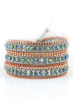 Trezo Lavi Rose Gold Wrap Bracelets