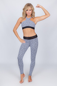 BLUE LIFE FIT Herringbone Highneck Sports Bra