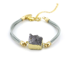 TREZO LAVI Druzy Leather Bracelets