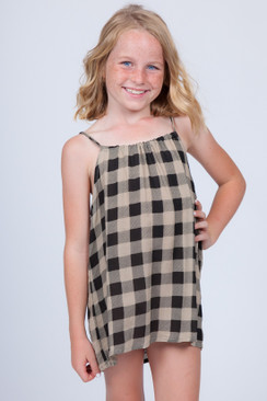 ACACIA HONEY Baby Capri Honey Dress in Check